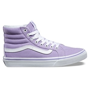 Vans Sk8-Hi Slim Womens Shoes - Lavender/True White