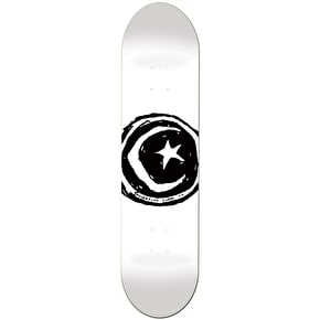 Foundation Star & Moon Skateboard Deck - White 8.25