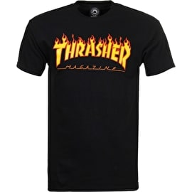 Thrasher Flame Logo T-Shirt - Black