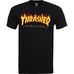 Thrasher Flame T-Shirt - Black