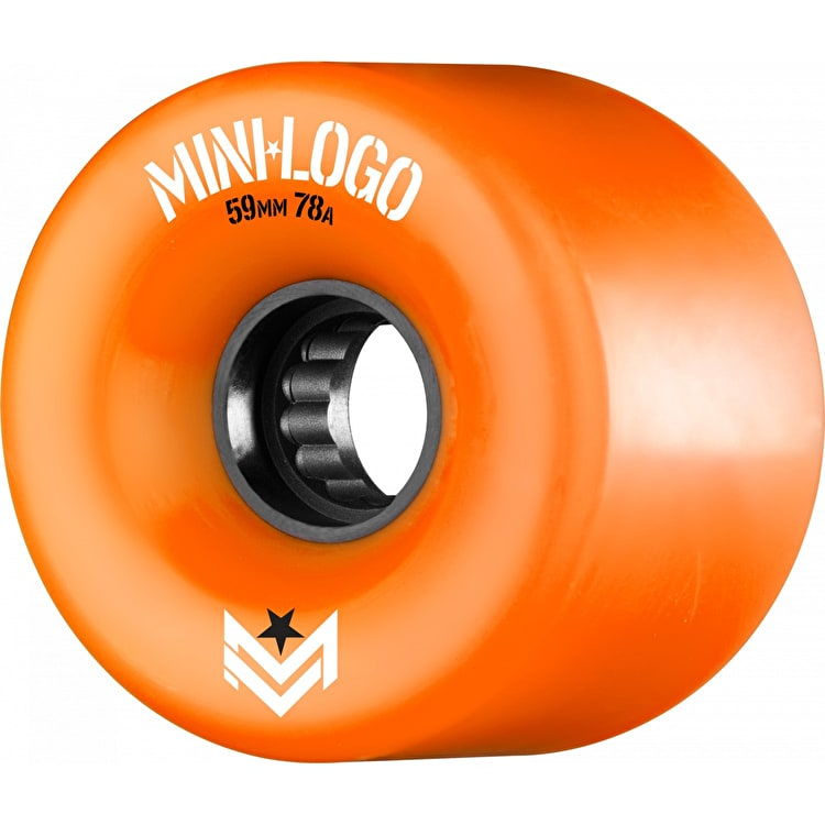 Mini Logo A-Cut A.W.O.L. 78a Skateboard Wheels - Orange 59mm (Pack of 4)