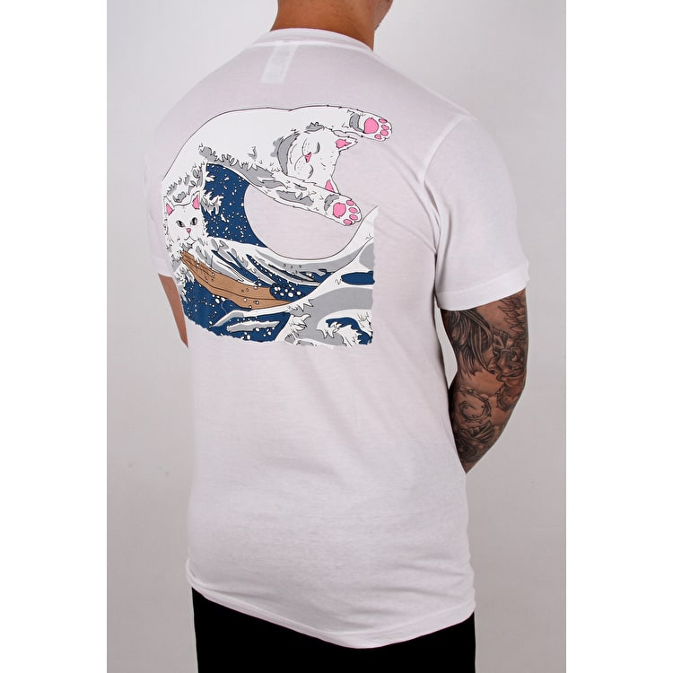 RIPNDIP Great Wave T shirt - White