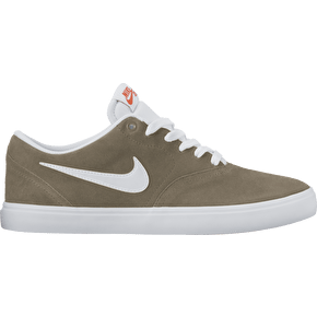 Nike SB Check Solar Skate Shoes - Khaki/White