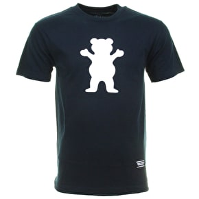 Grizzly OG Bear Logo T-Shirt - Navy