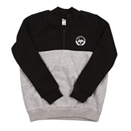 Hype Fenchurch Half Zip Kids Crewneck - Black/Grey