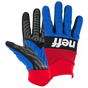 Neff Ripper Gloves - Red/Blue