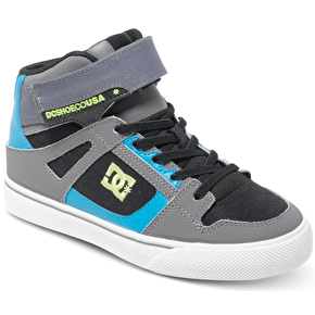 DC Spartan High EV Kids Shoes - Black/Armor/Turquoise