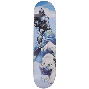 Primitive Salabanzi Silver Warrior Skateboard Deck - 8