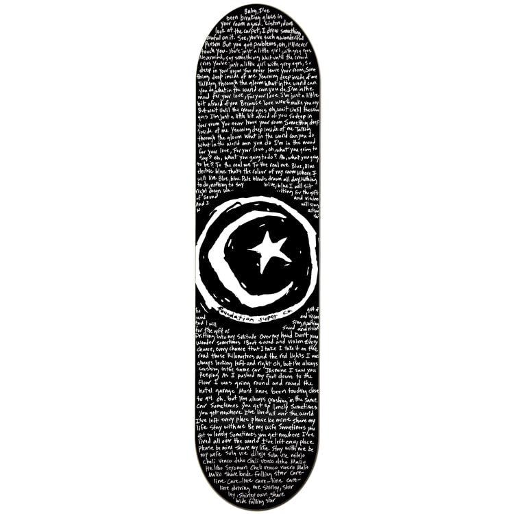 Foundation Star & Moon Low Skateboard Deck - 8.375""