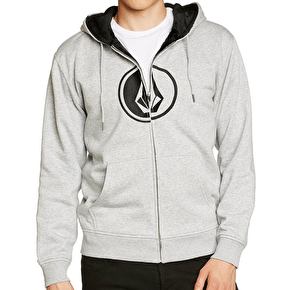 Volcom Circle Stone Lined Kids Zip Fleece Hoody - Heather Grey