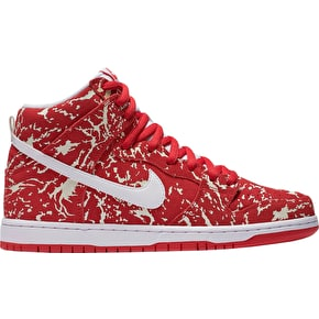 Nike SB Dunk Hi Premium Shoes - Challenge Red/White