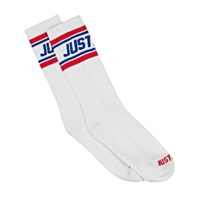 Hype Prime Socks - White/Red/Blue