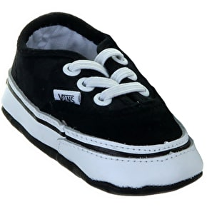 Vans Authentic Crib Shoes - (Washed Checkerboard) Black/True White