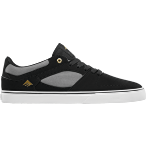 Emerica The Hsu Low Vulc Skate Shoes - Black/Grey/White