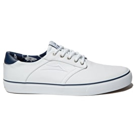 B-Stock Lakai Porter Skate Shoes - White Canvas UK 7 (Ex-Display)