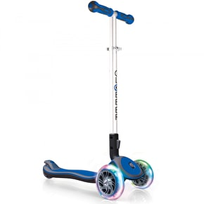 Globber Elite Lights Complete Scooter - Navy