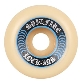 Spitfire Formula Four Lock Ins 99D Skateboard Wheels - Blue 55mm (Pack of 4)