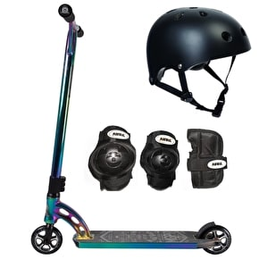 MGP VX7 Team LE Neochrome/Black/Neochrome Scooter Bundle
