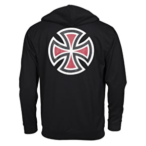 Independent Bar Cross Zip Hoodie - Black