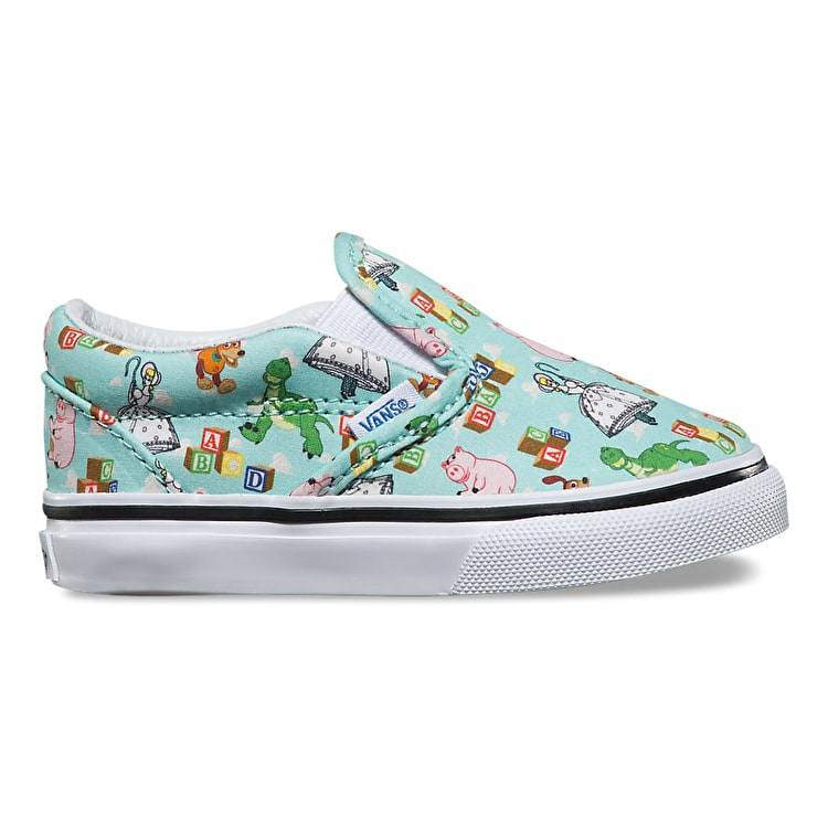 Vans x Toy Story Slip-On Toddler Shoes - Andy's Toys/Blue Tint