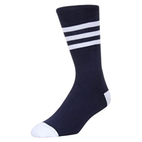 WeSC Striped Socks - White - 3 Pack - Large