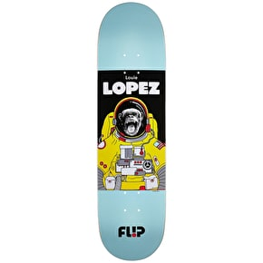 Flip Lopez Space Monkey Skateboard Deck - Blue 8.25