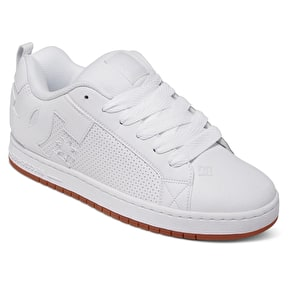 B-Stock DC Court Graffik Skate Shoes - White/Gum - UK 8 (Box Damage)
