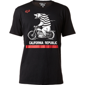 Fox Bear Republic T-Shirt - Black