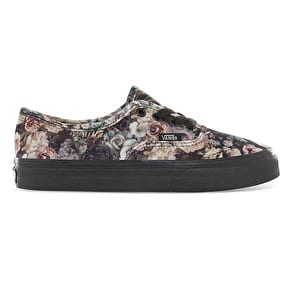 Vans Authentic Skate Shoes - (Velvet) Floral/Black