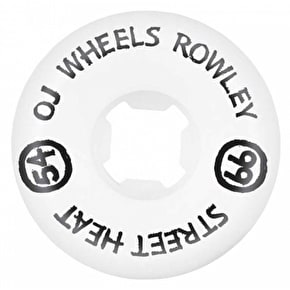 OJ Skateboard Wheels - Rowley Street Heats 99a White 54mm