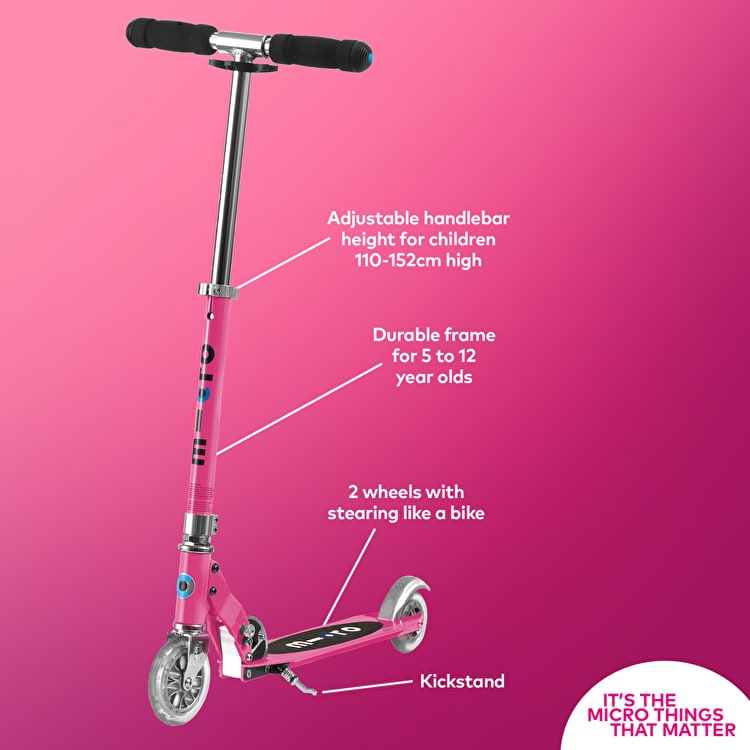 Micro Sprite Folding Scooter - Pink