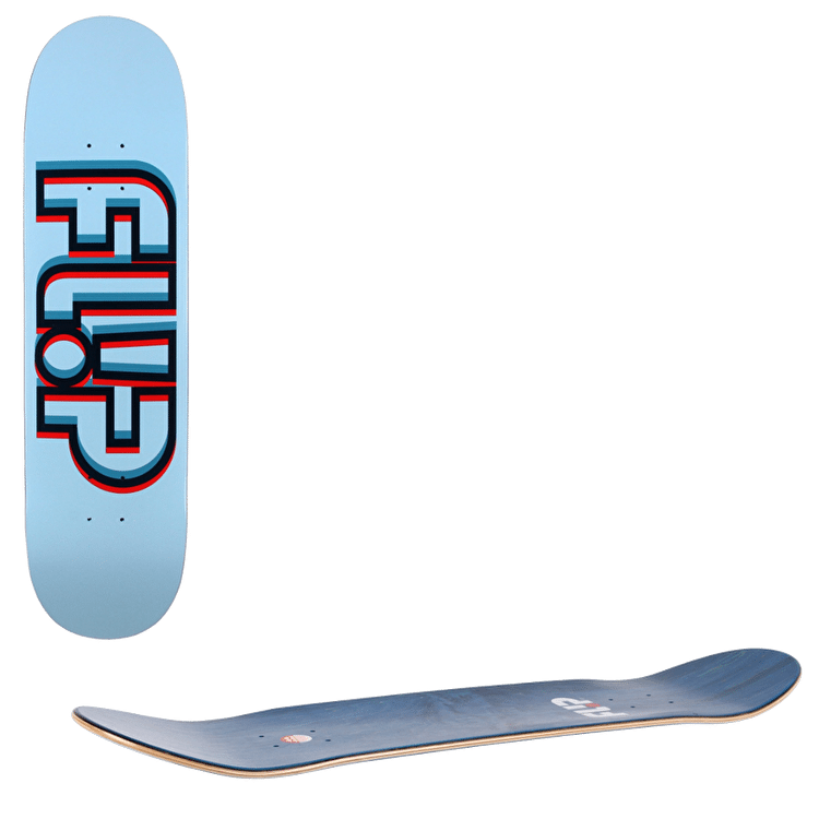 Flip Odyssey Depth Skateboard Deck - Blue 8.25""