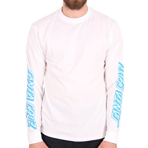 Santa Cruz Party Dot Longsleeve T-Shirt - White