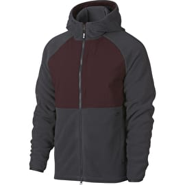 Nike Therma Jacket - Anthracite/Burgundy Crush/Black