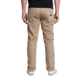 Kr3w K Slim 5 Pocket Chinos - Dark Khaki