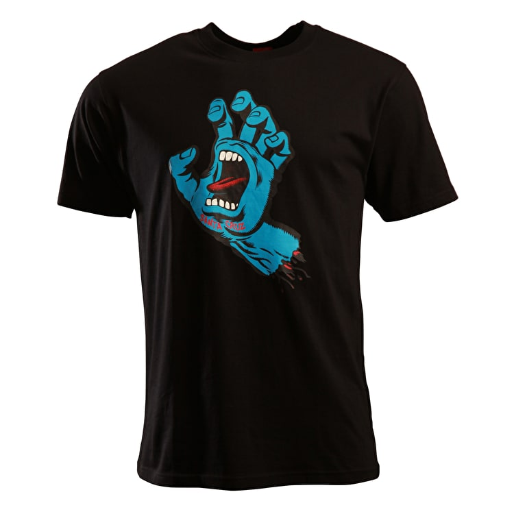 Santa Cruz Screaming Hand T Shirt - Black