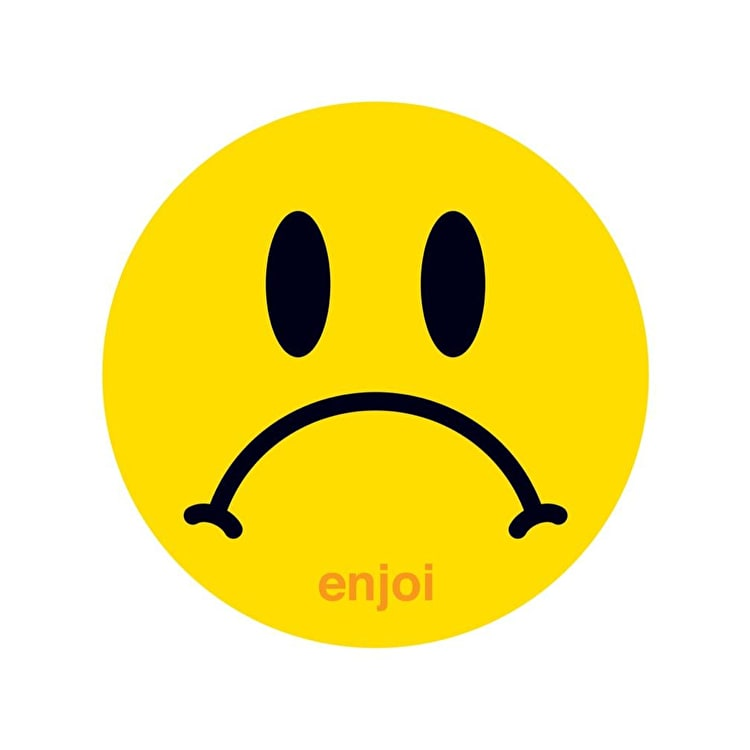 Enjoi Sad Face Skateboard Sticker