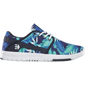 Etnies Scout Womens Skate Shoes - Blue/White/Navy