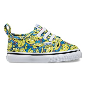 Vans x Toy Story Authentic V Lace Toddler Shoes - Aliens/True White
