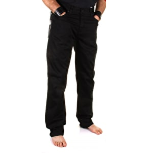 Kr3w K Slim 5 Pocket Chinos - Black