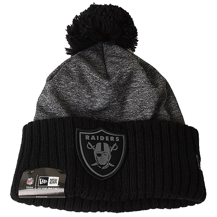 New Era NFL Grey Collection Beanie - Oakland Raiders