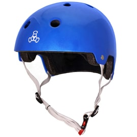 Triple 8 Brainsaver Dual Certified Helmet - Metallic Blue Gloss