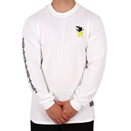 Grizzly Tubular Long SleeveT-Shirt - White