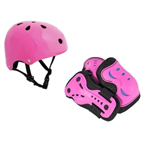 SFR Essentials Helmet & Padset Bundle - Pink