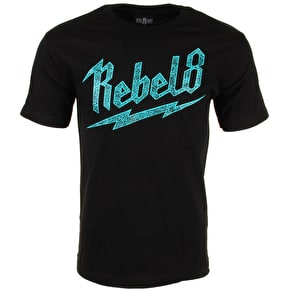 Rebel8 Bolted T-Shirt- Black