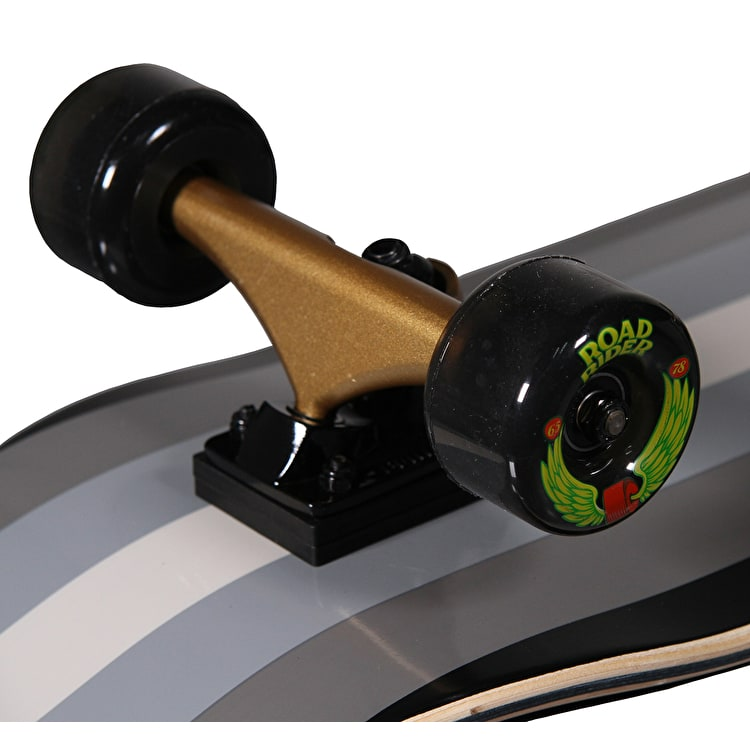 "Santa Cruz Gold Opus 33"" Jammer Complete Cruiser - Black/Gold"