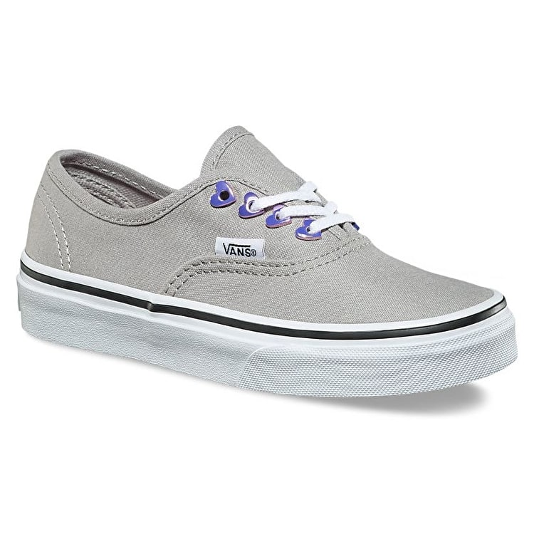 Vans Authentic Kids Shoes - (Eyelet) Hearts/Grey