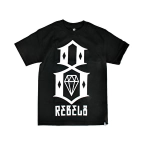 Rebel8 Logo T-Shirt - Black