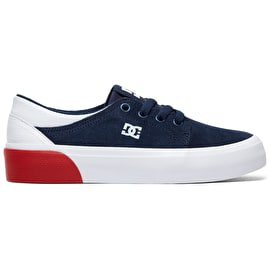DC Trase SD Skate Shoes - Navy/White
