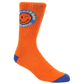 Expedition One Patches Crew Socks - Orange/Royal